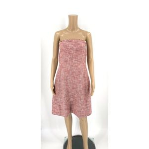Banana Republic Dress Pink Strapless A-line Tweed